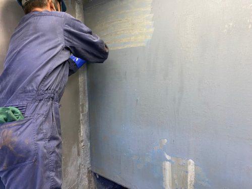 塗装ブース清掃 塗膜剥離 除去