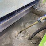 塗装ブース清掃 廃液抜取り 沈殿物除去